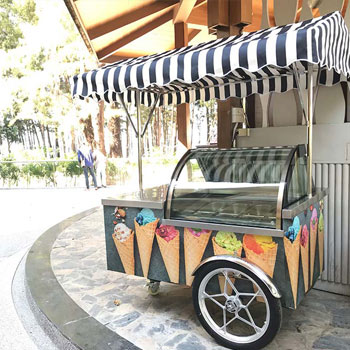 Ice cream cart to increase ice cream sales