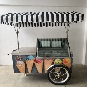 Small ice cream cart